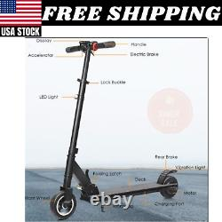 250W Portable Folding Electric Kick Scooter Brushless Motor 6 Tire Teens Adults