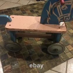 Antique 1900' Vintage Owned 100 yr Kids Toddler Ride-On Push/Kick Child Scooter
