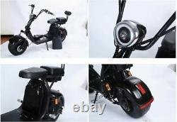 DOUBLE SEAT 2000W 60V Wide Fat Tire Kick Electric Scooter Moped Bike CityCoco