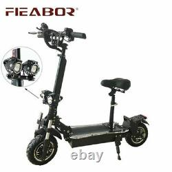 Fieabor 2400with52v Two Wheel 10.5in Folding Electric Kick Scooter NEW