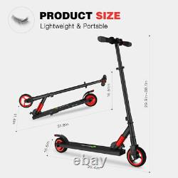 Folding Electric Scooter Kick Scooter Aluminium Kids E-Scooter 250W 23KM/H Red