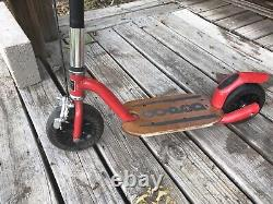 Go-Ped Grow-Ped Kick Push Scooter Kids Child Red GrowPed Goped Made In USA