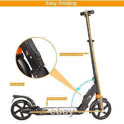 Kids/Adult Scooter with 3 Seconds Easy-Folding System, 220lb Folding Adjustable
