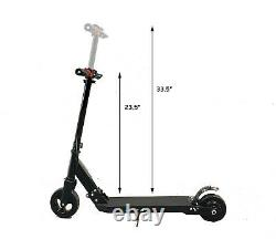 Kids Foldable Electric Rear Power Scooter 250w 6 Tire Up to 10mph 8mile Range