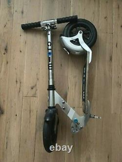 Micro Flex Air 200 Adult Scooter Silver Inflatable Tyre 100kg Foldable Flex Deck