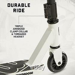 Mongoose Rise 100 Youth Freestyle Stunt Scooter, High Impact PU Wheels