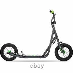 Mongoose Scooter Kick Tricks BMX Freestyle Kids Outdoor Ride Gray NEW