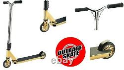 New 2020 Outrage Skate Pro 360 Kids Stunt Scooter Trick Kick Freestyle Gold