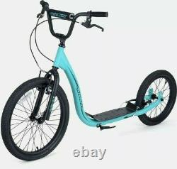 Osprey BMX Scooter with Big Wheels, Kids & Adults Off Road & Street Scooter Blue