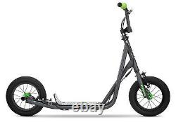 Pro Scooter 12 Air Big Wheels for Child Kids, Grey, Handlebar Can Be Adjusted