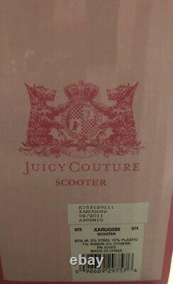 RARE AUTHENTIC Juicy Couture Scooter BRAND NEW NRFB. Silver and Pink
