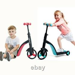 RED/BLUE Children Scooter Tricycle Baby 3 In 1 Balance Bike Ride On Toys Gift