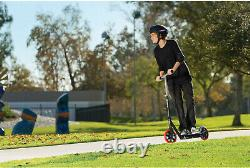 Razor A5 Carbon Lux Kick Scooter Black, Red Wheels Steel Outdoor Park Kids
