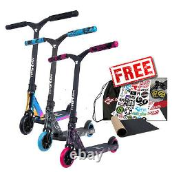 Root Industries Type R Mini Pro Childrens Stunt Scooter Neochrome/Pink/Blue
