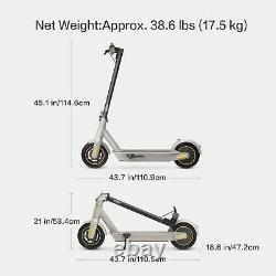 Segway Ninebot MAX Electric Kick Scooter, Max Speed 18.6 MPH, Long-range Battery