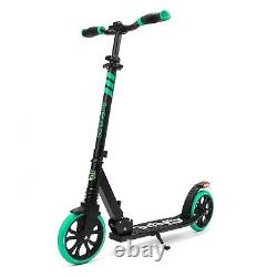 SereneLife Lightweight and Foldable Kick Scooter Adjustable High Impact Wheels
