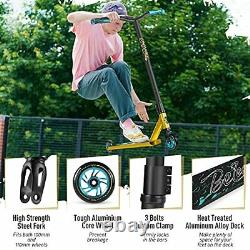 Stunt Scooter, Complete Pro Trick Scooter for Kids Boys and Girls, 100mm