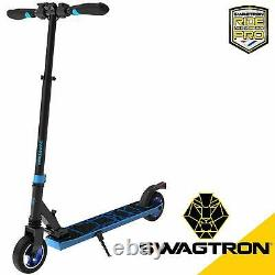 Swagtron SG-8 Folding Electric Scooter for Kids Teen Kick Scooter E-Scooter Blue