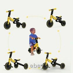 UONIBABY 4-in-1 Kid Tricycle Folding Children Balance Bike Baby Push Scooter Bab