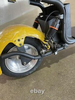 Western Pacific Double Seat 2000W 60V Wide Fat Tire Kick Electric Scooter
