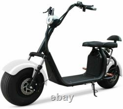 Western Pacific Double Seat 2000W 60V Wide Fat Tire Kick Electric Scooter Blac